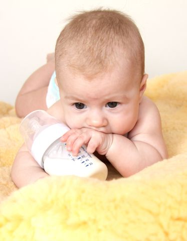 baby with bottle, cute baby